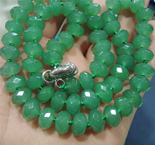 Faceted Roundel Bead Necklace - 3