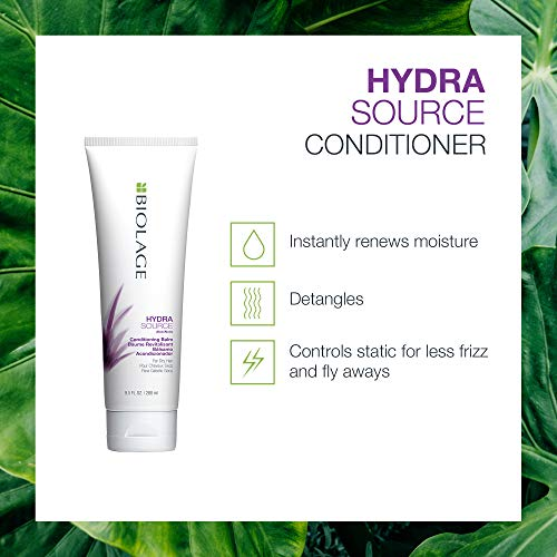 BIOLAGE Hydrasource Conditioning Balm, Hydrates, Moisturizes, and Renews Shine, for Dry Hair