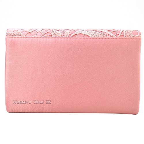 Coral Wocharm Lace Handbag Evening Bag Clutch TM Prom Bridal Bag Ladies Bag Envelope Wedding Bag EqwZ16xEr