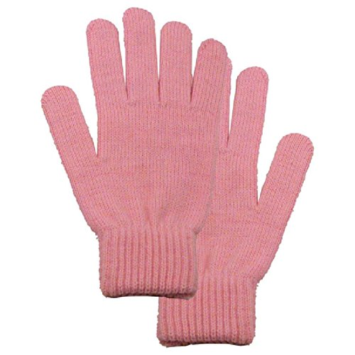 Simplicity Men/Women Full Gloves Solid Color Knitted Winter Warm Gloves,Tro.Pink, One Size -