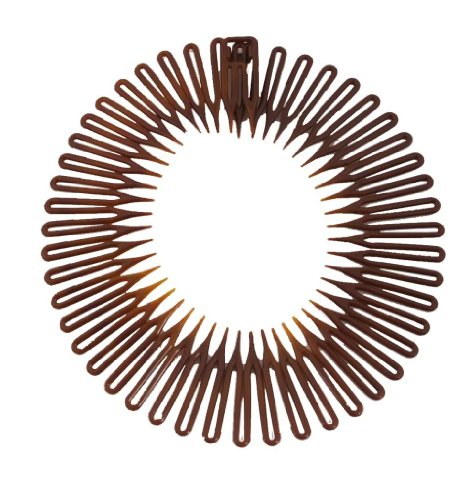 - Caravan Full Circle Spring Head Band Comb In Classic Tortoise Shell With Deep Teeth And Closure