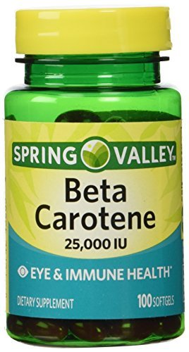 Spring Valley Beta Carotene 25000IU 100ct Softgels by Spring Valley