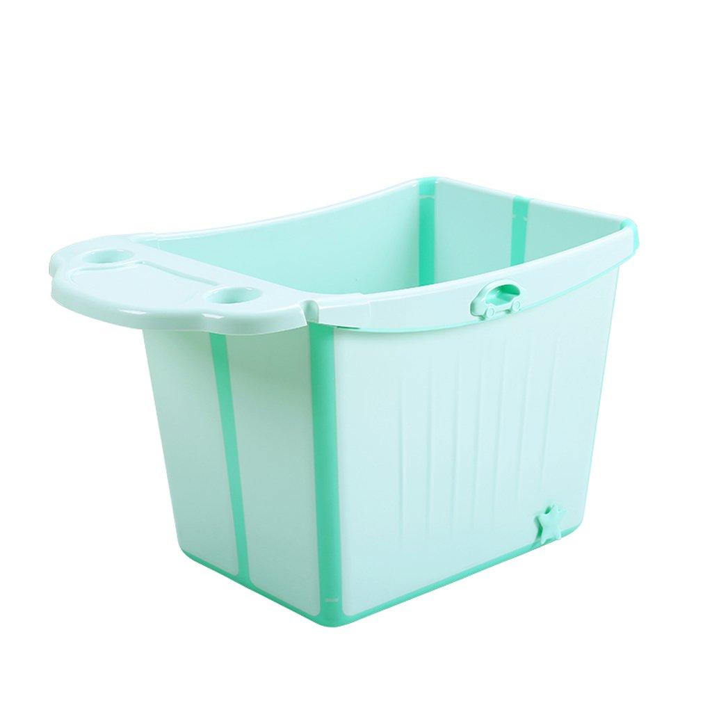 GAOYANG Foldable Baby Bath Extra Large Child Bath Bucket Bathtub for Children to Sit Baby Bath Bucket Bathtub (Color : Green) by GAOYANGyupen (Image #3)