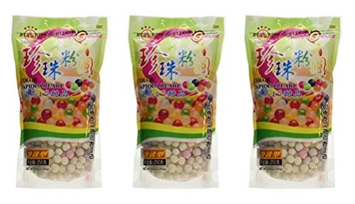Wufuyuan - Colorful Tapioca Pearls 8.8 Oz (Pack of 3) by WuFuYuan