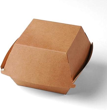 Selfpackaging Caja de cartón clásica para Hamburguesas - Pack de 50 Unidades: Amazon.es: Hogar