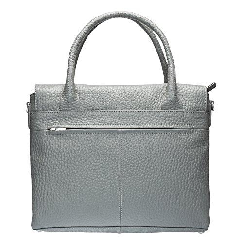 Voi Leather Design, Borsa a tracolla donna Acciaio