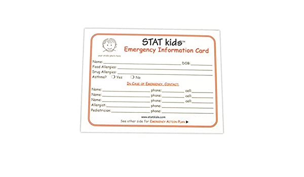 amazoncom stat kids emergency cards 5 pack health personal care