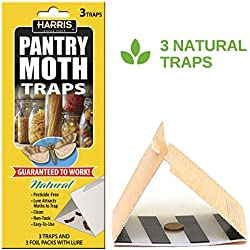 Harris Natural Pantry Moth Traps with Pheromone Lure, 3 Pack