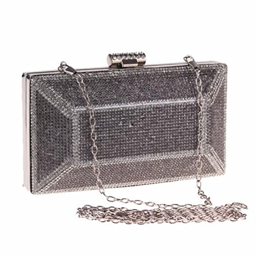 Banquet Black Bag KERVINZHANG à Ladies Sac soirée Robe Sac Purse Sac Craft Diamond Main Gold Clutch Color de A1ABq
