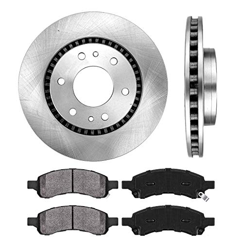 ([ 4.2L ] FRONT 301.8 mm Premium OE 6 Lug [2] Brake Disc Rotors + [4] Metallic Brake Pads)