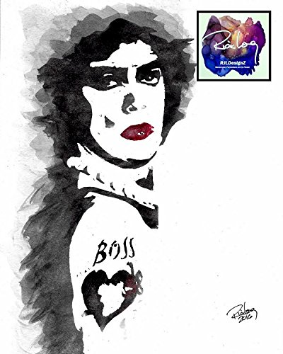 "HAND DRAWN Artist Watercolor Original 8"" x 10"" PRINT of Tim Curry in ROCKY HORROR PICTURE SHOW! Available in 11x14, and 20x30 Prints as well!!"