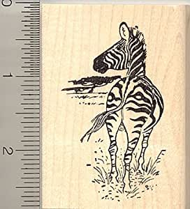 Zebra rubber stamp wood mounted arts for Rubber stamps arts and crafts
