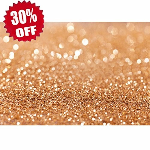 Careonline 5x7ft Vinyl Gold Sequin Bokeh Glitter Photo Backdrop, Wedding Photo Booth Props, Photography Background, Birthday Party Ceremony Background, Studio Props Backdrop (13 Backdrop)