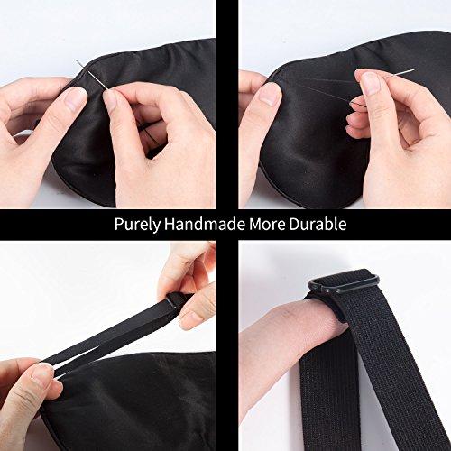 natural silk sleep mask lightweight comfortable blindfold adjustable super soft eye mask works. Black Bedroom Furniture Sets. Home Design Ideas