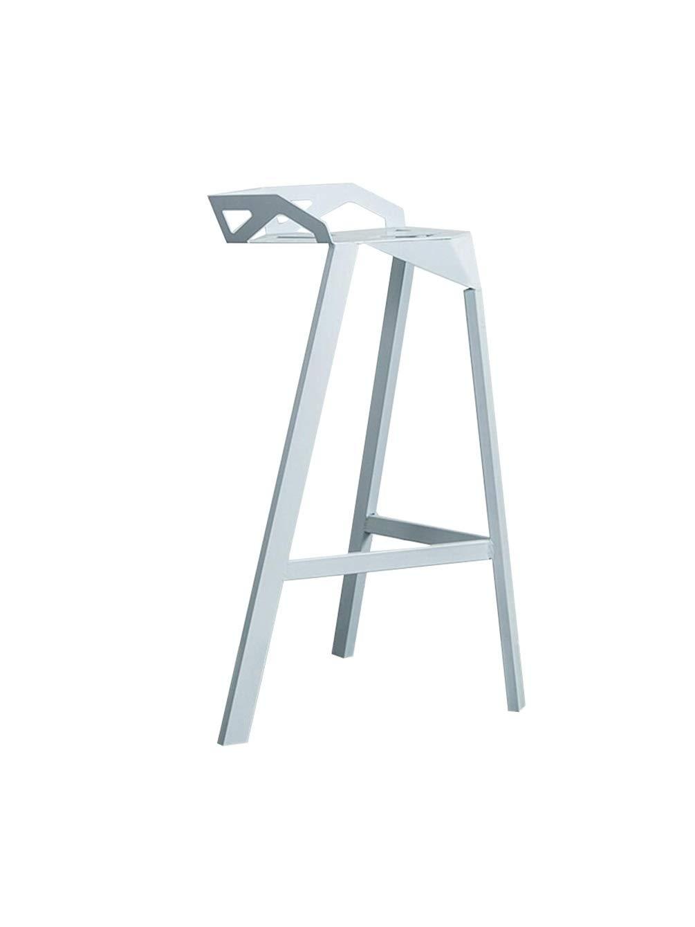 White 75cm BARSTOOLRI Bar Stool, Ergonomics Metal Adjustable Non-Slip Breakfast Stools for Kitchen Office Counter Chair (color   Black, Size   75cm)