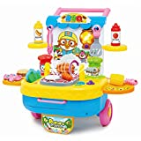 Pororo Chef Barbecue Play Set, Grill Set for Kids, BBQ Plays and Travel Set with Carrying Case for All Boys and Girls