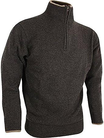 Troyer Jack Pyke England - Jersey de lana de cordero, color marrón