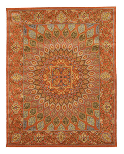 EORC SHT12RT Hand Tufted Wool Gombad Rug, 7'6 x 9'6, Rust