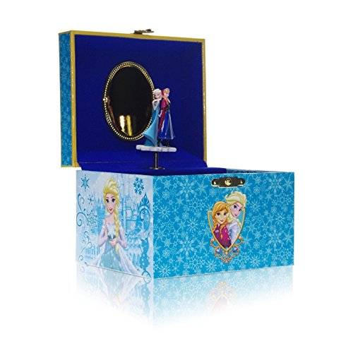 Disney Parks Frozen Musical Jewelry Box Elsa and Anna Let it go -