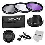 Neewer® 67mm Professional Lens Filter Accessory Kit for Canon Nikon and Other DSLR Camera Lens with 67mm Filter Thread, Includes Filter Kit (UV, CPL, FLD), Pouch, Lens Hood, Lens Cap, Cleaning Cloth