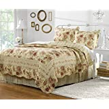 Greenland Home Antique Rose King Quilt Set