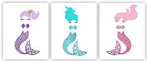Mermaid Decor Mermaid Wall Decor Mermaid Room Decor Mermaid Wall Art Mermaid Prints Mermaid Pictures Wall Art Mermaid Art Wall Unframed