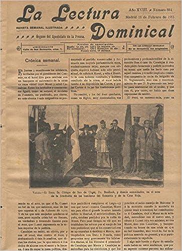 Amazon.com: La lectura dominical numero 894 del 18.2.1911 ...