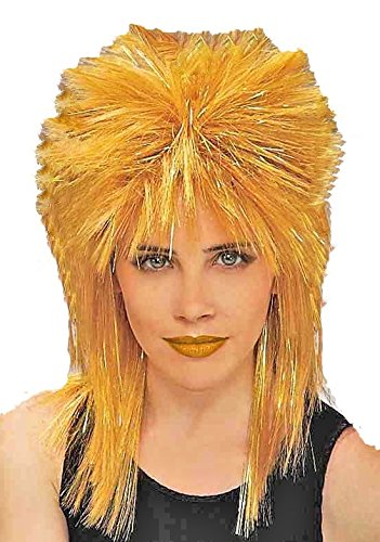 80's Tina Turner Costume (Forum Novelties Women's 80's To The Maxx Tina Costume Wig, Yellow, One Size)