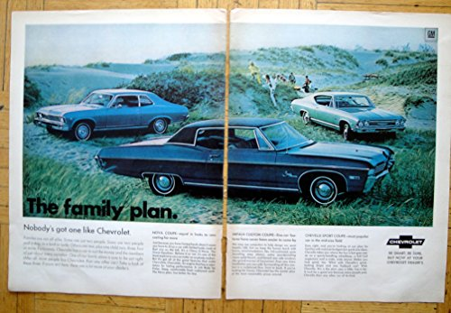1969 Chevrolet Coupes Chevelle Nova Impala -Original 2 Page 13.5 * 10.5 Magazine Ad -