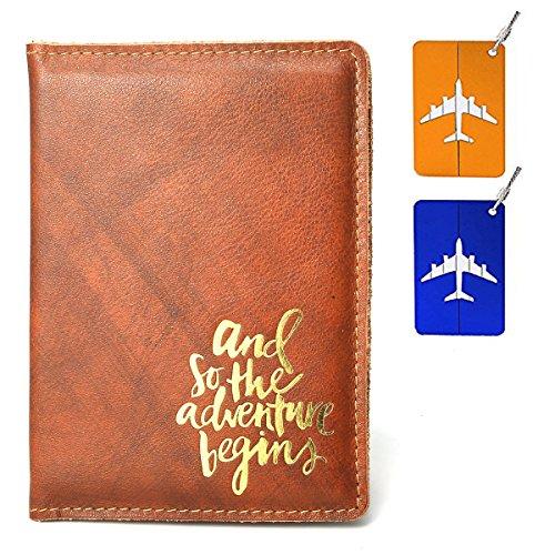 Leathereal RFID Blocking Leather Passport Cover Passport Holder Travel Wallet Passport Wallet Case - FULL GRAIN LEATHER