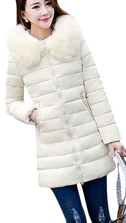 97171f9c7d3 Women's Coat - Womens Long Fur Trimmed Hooded Padded Puffer Parka Ladies  Winter Jacket Coat: Amazon.co.uk: Clothing