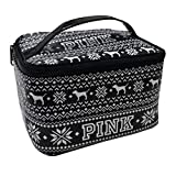 VICTORIA'S SECRET PINK BLACK & WHITE TRAIN MAKE-UP TRAVEL CASE BAG offers