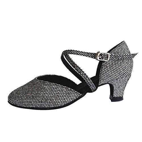Jig Foo Sandalen offene Latin Salsa Tango Ballroom Dance Schuhe für Mädchen mit 3cm Ferse