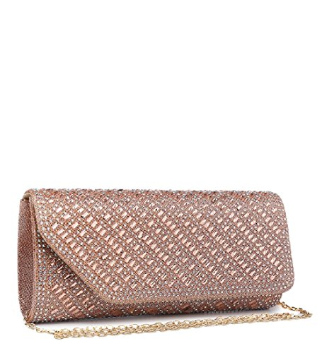 Women's ME68031 Handbag Clutch Evening Bag Diamante Glitter Party Black Ladies Envelope p4xIqzPzw