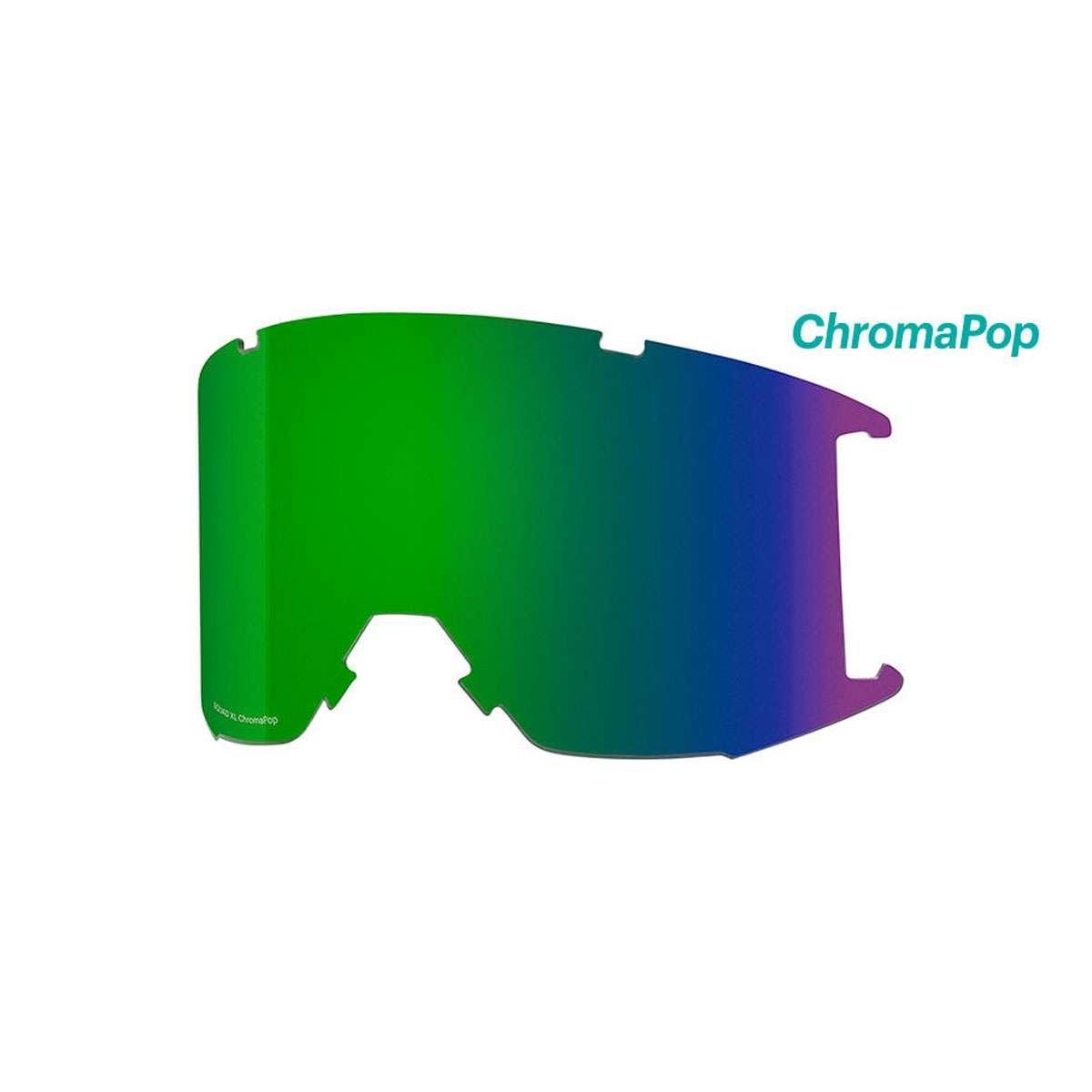 スミスSquad XL交換用レンズ B075QZFLWP CHROMAPOP SUN GREEN MIRROR CHROMAPOP SUN GREEN MIRROR
