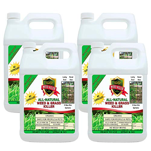 Contains Natural - Natural Armor Weed and Grass Killer All-Natural Concentrated Formula. Contains No Glyphosate (Case of (4) 128 OZ. Gallon Refills)