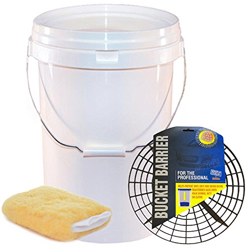 Smart Tech Car Care 20 Litre Wash Bucket & Bucket Barrier - Car Wash Bucket System - Swirl Free Wash Method - Wash Mitt