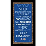 MLB Toronto Blue Jays Subway Sign Wall Art with Authentic Dirt from the Rogers Centre, 9.5x19-Inch