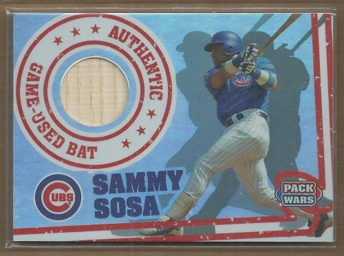 (2005 Topps Pack Wars Relics #SS Sammy Sosa Bat Game-Used Memorabilia Card)