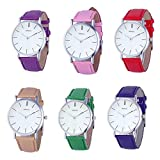 Womens Quartz Watches,Hotkey Unique Retro Design Analog Classic Clearance Lady Watches Female Wrist Watch on Sale Watches for Women,Round Dial Case Comfortable PU Leather Wristwatch K22