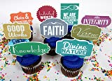 LDS Mormon Young Women Themed Party Cupcake Topper Set Featuring Young Women's Values