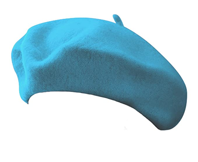 Classic Wool Blend French Artist Beret TURQUOISE AQUA at Amazon ... 4ce88b60c32