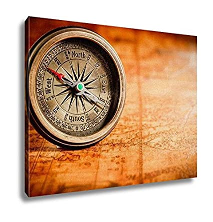 Amazon ashley canvas vintage still life vintage compass lies ashley canvas vintage still life vintage compass lies on an ancient world map in 1565 gumiabroncs Choice Image