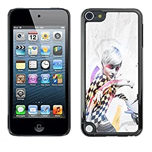 LECELL -- Funda protectora / Cubierta / Piel For Apple iPod Touch 5 -- Pin Up Race Girl --