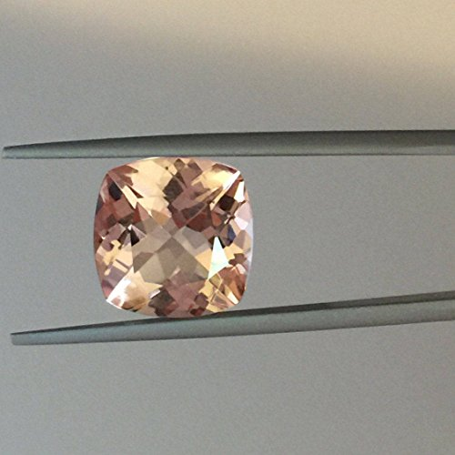 6mm 100% Natural Peach Beautiful Morganite Cushion Cut Loose Gemstone Beautiful Morganite Loose Gemstone 1 Piece Pink Morganite Natural