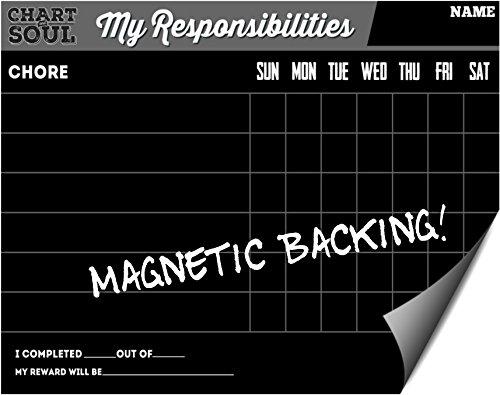 Magnetic Refrigerator Chalkboard Chart Rewards