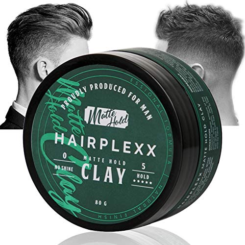 Hair Clay for Men Styling Product, Matte Finish Molding Hair Wax 2.8 Ounce, Strong Hold Light Smell No Shine