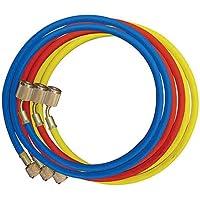 Rheem 45360 Rubber Refrigerant Hose Set, 5 Length, Anti-Blowback Fittings, 0.25 ID, 0.500 OD