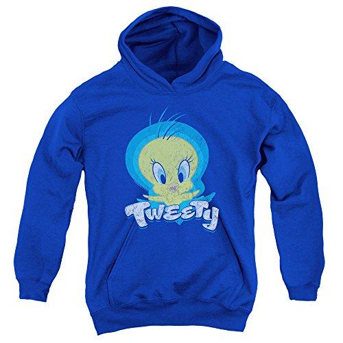 A&E Designs Kids Tweety Bird Swirl Youth Hoodie, Royal Blue, - Tweety Hoodie