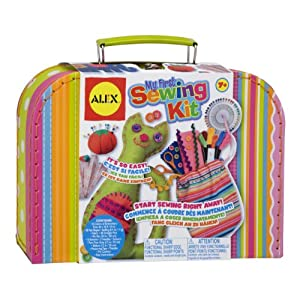 51HuKmXCIxL. SS300  - Alex Craft My First Sewing Kit Kids Art and Craft Activity